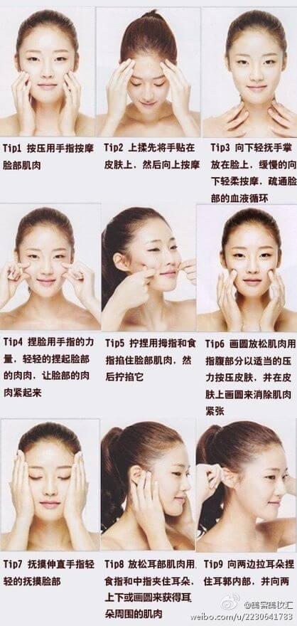 Facial acupressure for a youthful glow
