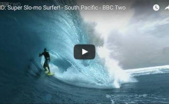 Slow motion barrel surfer