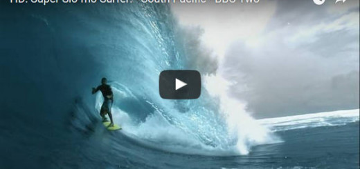 Slow motion barrel surfer
